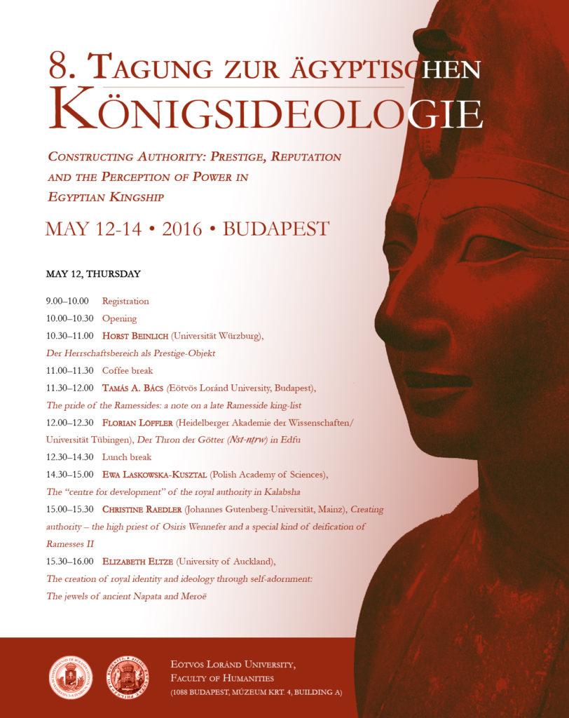 8. Tagung zur Königsideologie - Poster, Page 1